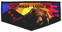 MERGED CHUMASH OA LODGE 90 PATCH LOS PADRES COUNCIL VELVET BEAR & MTNS F2 FLAP