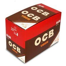 NEW OCB FILTERS SLIM VIRGIN UNBLEACHED NATURAL FULL BOX (10 PACKS X150 FILTERS)