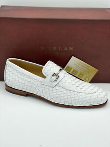 MEZLAN CERROS WOVEN CALFSKIN LEATHER SLIP-ON LOAFERS [MADE IN SPAIN] (SIZE 9)