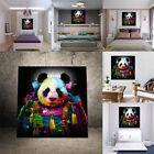 Peinture Huile Panda Tableau Toile Art Abstraite Moderne Décor Maison Mural Mode