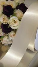 Ivory Cream Satin Wedding Car Ribbon 50 Mm Wide X 6 MTR Wide Flat Pack Post