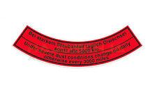étiquette Filtre à air Bain d'HUILE Oil nettoyant d'AIR TRACTEUR voiture