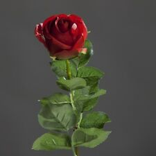 Rose Bauernrose Seidenblume Kunstblume lila aubergine violett 55 cm 42677-09 F8