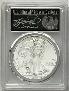 2018 SILVER EAGLE FIRST STRIKE 1 OF 1000 PCGS MS70 CLEVELAND FREEDOM