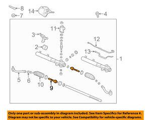 KIA OEM 11-13 Sorento Steering Gear-Inner Tie Rod End 577242B000