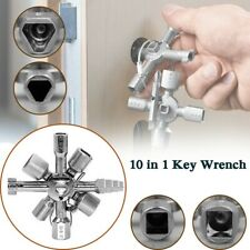 10 in 1 Cross Switch Wrench Key Square Multi function Electrician Plumber Kits