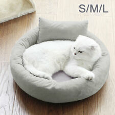 Deluxe Round Soft Pet Bed Puppy Dog Cat Warm Basket Cushion Bed Fleece Lining