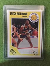 1989 - 1990 Fleer Mitch Richmond #56 Rookie Basketball Card - New From Pack!