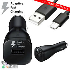 Genuine Original Samsung Galaxy S8 S8+ Plus FAST Car Charger+Type-C USB Cable