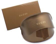 Gucci Brillenetui Lederetui Sonnenbrille Leder gold bronze L