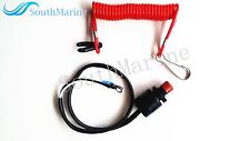 Kill Stop Switch & Safety Tether Lanyard for Yamaha Tohatsu Honda Outboard ATV