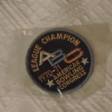 American Bowling Congress League Champion 1970-71 Patch