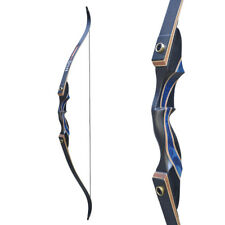 D&Q 50Ib Recurve Bow Takedown Right Hand Archery Laminated Target Wood Riser