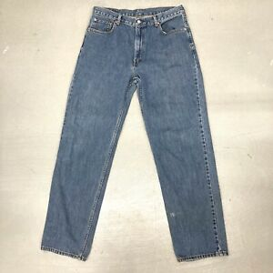 Mens Levis 550 Relaxed Fit Straight Leg 100% Cotton Blue Jeans Size 36X34