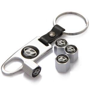 Car Tire Tube Valve Stem Cap Tubeless Tire Air Caps For Hyundai Keychain