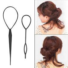Ponytail Creator Plastic Loop Styling Tools Black Topsy Pony Tail Hair Braid DP