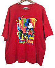 Walt Disney World Magic Kingdom Mickey Mouse T Shirt Red Xl