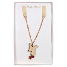 Meri Meri Wooden Deer Pendant Necklace for children KIDS Christmas stocking gift
