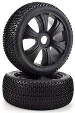 Apex RC Products 1/8 Off-Road Buggy Black Aggressor Wheels / Nub Tires #6034
