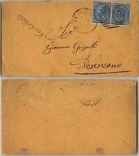 """REGNO-Coppia 10c(27) CASTELLETTO(corsivo)-Busta Verona """"197"""" 24.4.1878"""