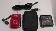 Nikon Coolplix S-01 10.1MP HD 720p Compact Camera Pink