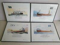 Robert McGreevy 4 signed numbered prints Onoko, Spokane, Edmund Fitzgerald, Cort