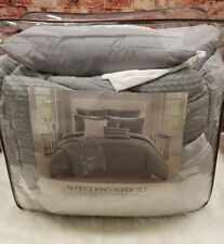 Pem America Levi 13-Pc. King Comforter Super Set Grey King