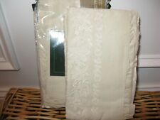 Ralph Lauren Village Mews Lace Embroidered Cream Ruffled Standard Shams New $350
