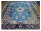 Vintage 9x7' Wool & Silk Chinese Asian Rug Persian Design Hand Knotted - NYC