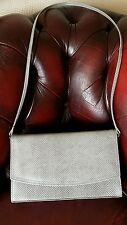 Vintage 'Yolanta' grey leather snake skin effect handbag