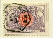 BELGIUM;  RAILWAY PARCEL POST 1902 early issue 60c. fine used value