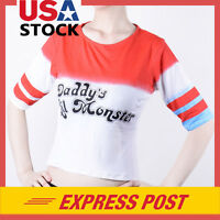 Suicide Squad Harley Quinn Daddy's Lil Monster T Shirt Cosplay Costume Halloween
