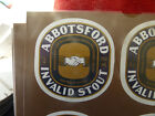 VINTAGE AUS BEER LABEL. CARLTON & UNITED - ABBOTSFORD INVALID STOUT 750ML G34