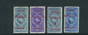 GUATEMALA 1898 NATIONAL EMBLEM (Scott 88-91) F/VF MH *please read desc*