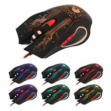 New 5500DPI 6 Buttons USB LED Optical Wired Gaming Mouse Mice PC Laptop Gamer