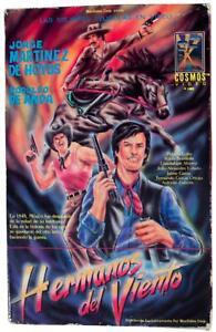 HERMANOS DEL VIENTO Big Box 1988 VHS VIDEO VTG 70s Mexican Western Movie Espanol