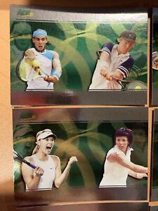 2008 Ace Authentic Tennis Set D1-9 Federer Sharapova Nadal FOIL Kournikova MINT