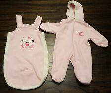 Baby Clothing: Girls Baby Okie Dokie 2 Piece Kitty Coverall Set Size 3-6 Months