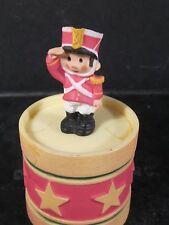 Hallmark Merry Miniatures 1985 Soldier On Drum Trinket Container Box Xha3465