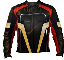 Classyak Motorcycle Leather Jacket Black, Padded Protection, High Quality Xs-5xl