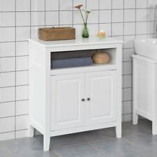 SoBuy® Wood Free Standing Bathroom Storage Cabinet with Doors, White,FRG204-W,UK