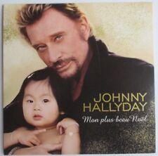 "JOHNNY HALLYDAY - CD SINGLE PROMO ""MON PLUS BEAU NOEL"""