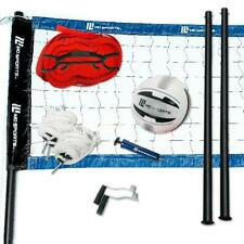 New listing Heavy Duty Volleyball Set Net Ball Poles Waterproof Outdoor Beach Game MD Sports
