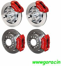 "WILWOOD DISC BRAKE KIT,1959-1964 CHEVY IMPALA,BEL AIR,11"" ROTORS,RED CALIPERS"