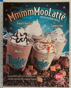Dairy Queen Poster MooLatte Frozen Coffee 11x14 dq2