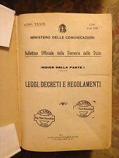 BOLLETTINO UFFICIALE FERROVIE DELLO STATO leggi decreti anno XIX 1940