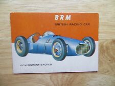 1953 VINTAGE TOPPS WORLD ON WHEELS CARD # 39 BRM BRITISH RACING CAR