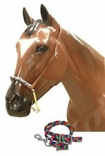Showman Braided MULTICOLORED Nylon Wax Covered Rope Noseband and Tie Down! TACK!