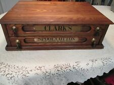 Clark's O.N.T. Two Drawer Antique Wooden Spool Cabinet - Refinished - Very Nice!
