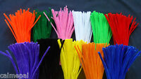 "Chenille Craft Stems Pipe Cleaners 30cm 12""Various Quantities & Colours Metallic"